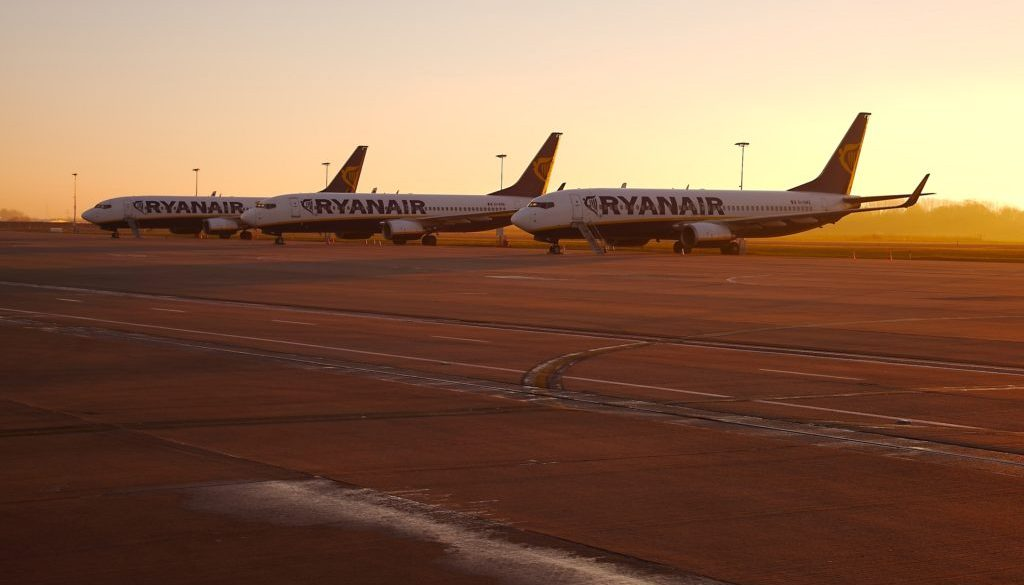 Ryanair fly i morgensol