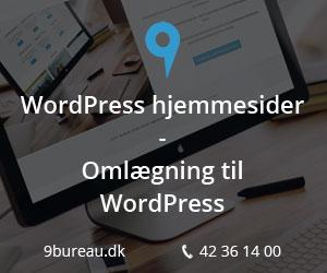 WordPress hjemmesider leveres hurtigt og billigt af 9bureau.dk