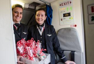 Reportage: Spænding og travlhed på første DAT-fly til Aberdeen