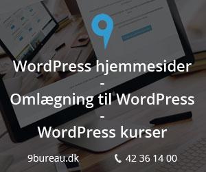 9bureau - WordPress hjemmesider - Omlægning til WordPress - WordPress kurser